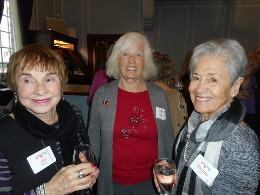 Linda Tu, Sandra Gold, and Jan enjoying the 2017 Holiday Luncheon at the Faculty Club
