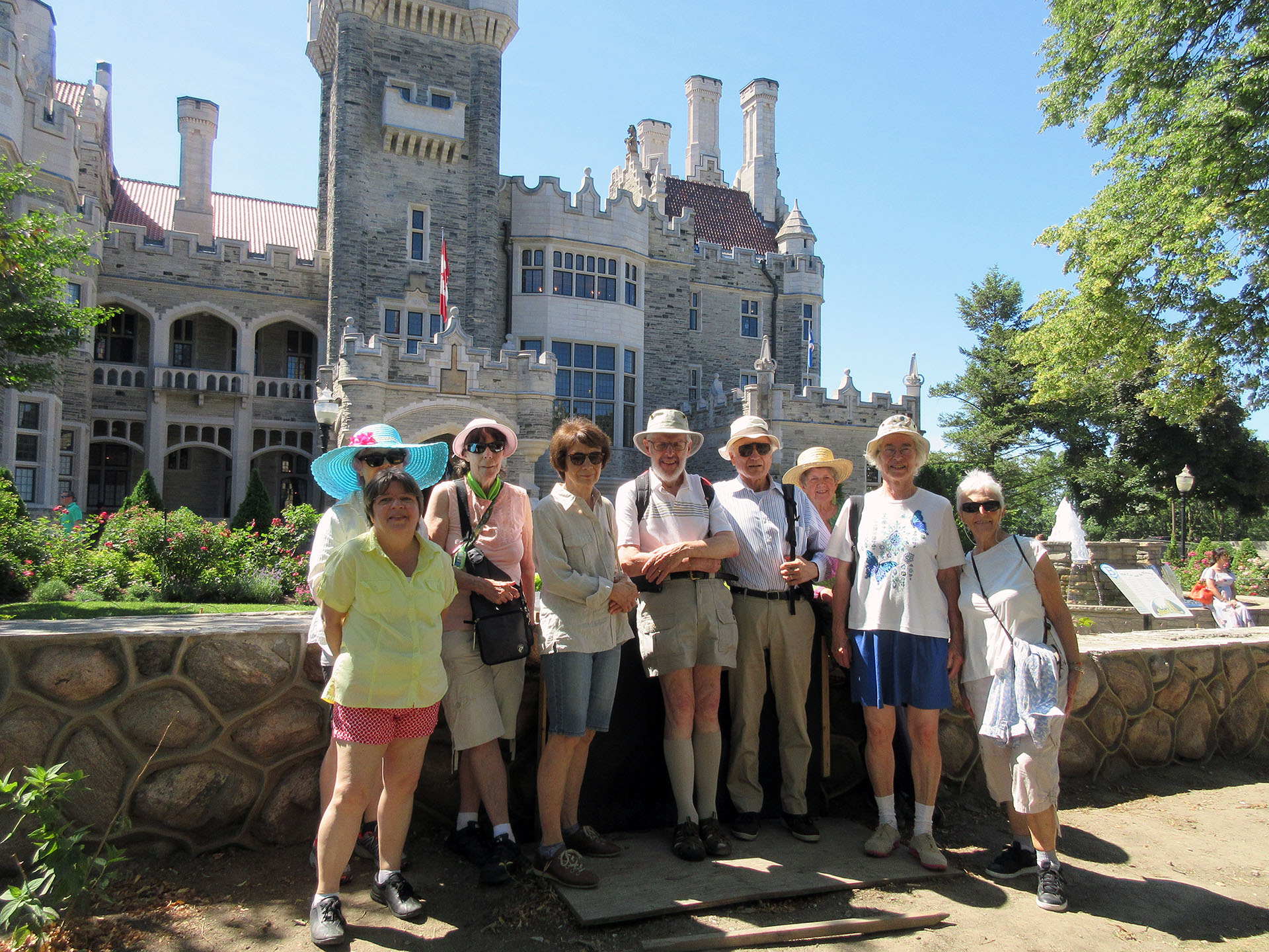 Hot but triumphant walkers storm the castle