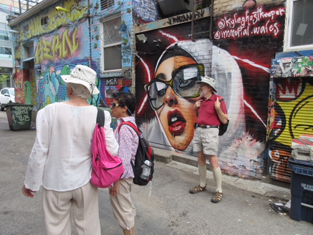 Viewing the City's Urban Art – August 14th Walk