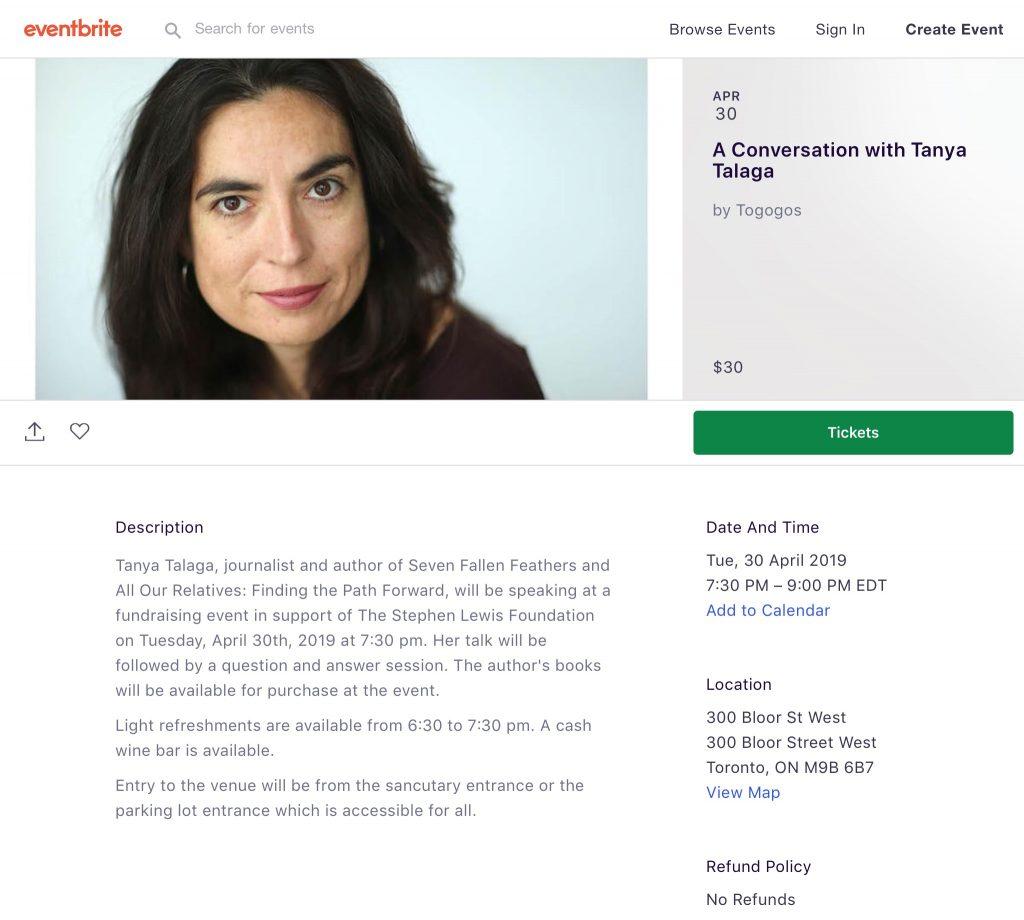 A Conversation with Tanya Talaga