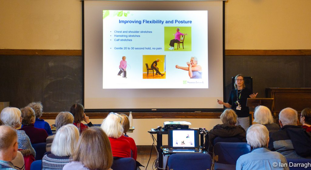 """How to minimize the risk of falls for seniors"" by Ingrid Otten, Academy Winter Forum, January 29, 2020."