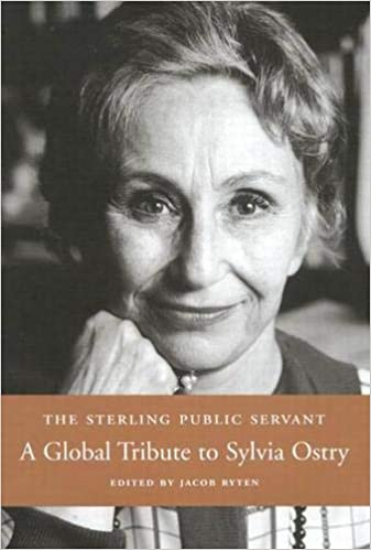 Sylvia Ostry, as pictured on the cover of a book published in 2004 to mark her 75th birthday.